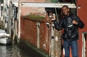 Tre'von Walker in Venice, Italy