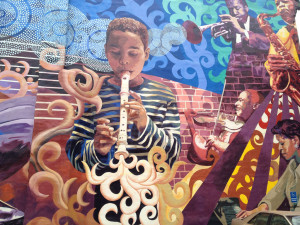 The creative and positive rhythms of music are visually expressed in this South 12th Street mural.
